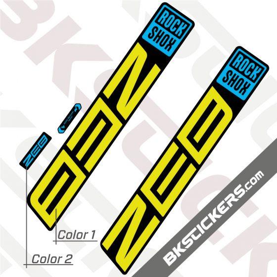 Rockshox ZEB 2021 Black Fork Decals kit - BkStickers.com