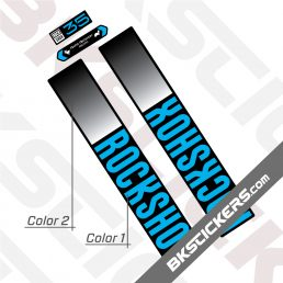 Rockshox 35 2021 Black Fork Decals kit - BkStickers.com