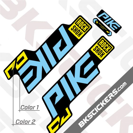 Rockshox Pike 2021 Black Fork Decals kit