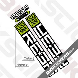 Rockshox Reba 2021 Black Fork Decals kit - BkStickers.com