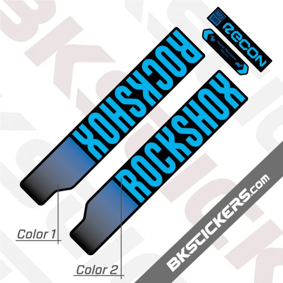 Rockshox Recon Silver 2021 Black with blue stickers