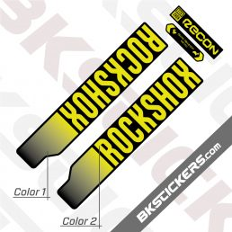 Rockshox Recon Silver 2021 Black Fork Decals kit - BkSitckers.com