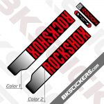 Rockshox Recon Silver 2021 Black with red stickers
