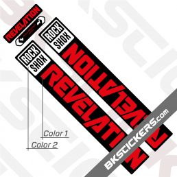 Rockshox Revelation 2021 Black Fork Decals kit