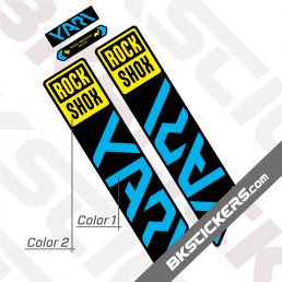 Rockshox Yari 2021 Black Fork Decals kit - Blue
