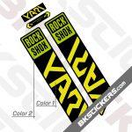 Rockshox Yari 2021 Black Fork Decals kit - Green