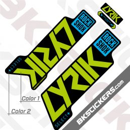 Rockshox Lyric 2021 Black Fork Decals kit
