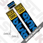 Rockshox Bluto 2021 Black Fork Decals kit