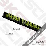 Rockshox Deluxe 2021 Rear Shock Decals kit 03