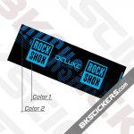 Rockshox Deluxe 2021 Rear Shock Decals kit