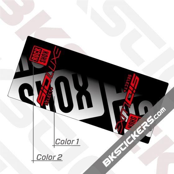 Rockshox SID Luxe Select Plus 2021 Invert Rear Shock Decals kit