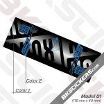 Rockshox SID Luxe Ultimate 2021 Rear Shock Decals kit 2