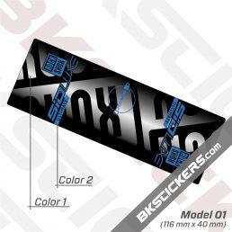 Rockshox SID Luxe Ultimate 2021 Rear Shock Decals kit