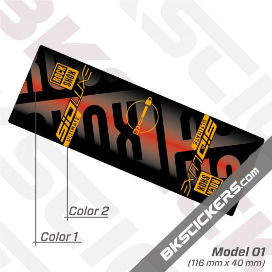 Rockshox SID Luxe Ultimate 2021 Rear Shock Decals kit 3