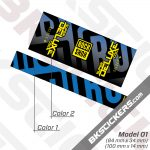 Rockshox Super Deluxe Coil Select Plus 2021 Rear Shox Decals kit