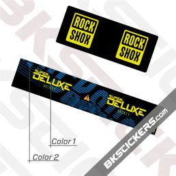 Rockshox Super Deluxe Select 2021 Rear Shox Decals kit