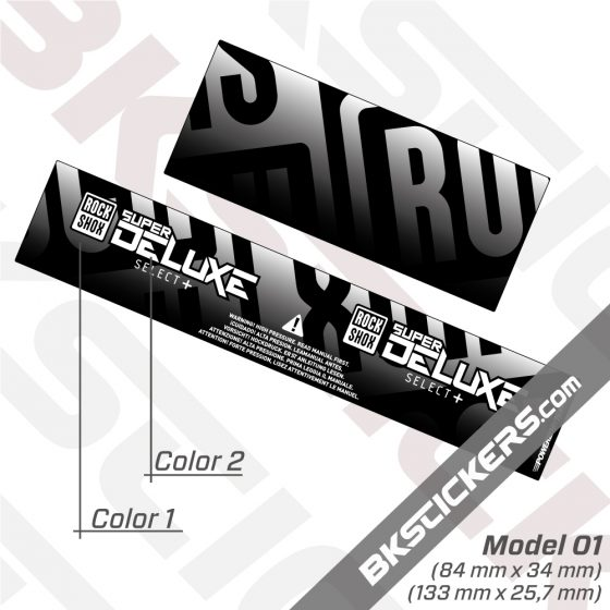 Rockshox Super Deluxe Select Plus 2021 Rear ShoxDecals kit 2