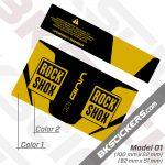 Rockshox Vivid R2C 2021 Rear Shock Decals kit