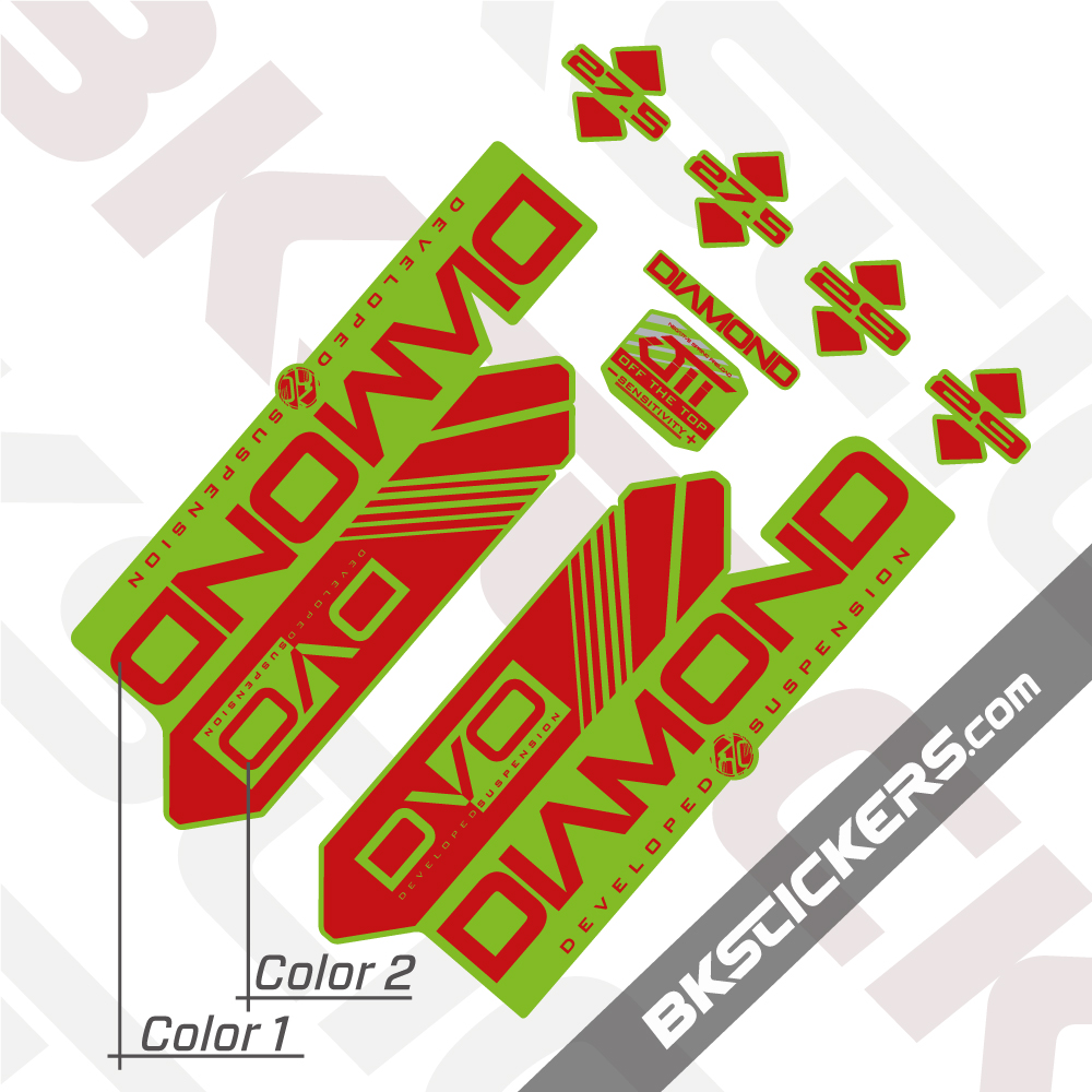 DVO 2016 Diamond 27.5-29 Fork Suspension Sticker Decal Kit Adhesive Pink
