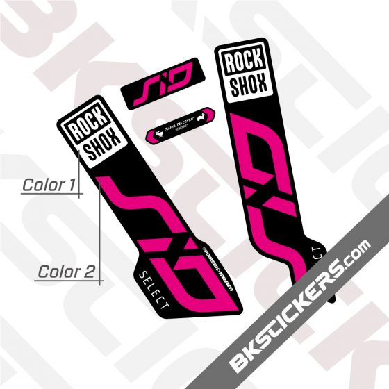 Rockshox SID 120 2020 Black Fork Decals kit 01
