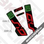 Rockshox SID 120 2020 Black Fork Decals kit 02