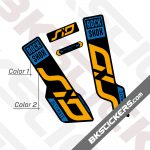 Rockshox SID 120 2020 Black Fork Decals kit 03