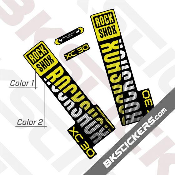 Rockshox XC30 2020 Black Fork Decals kit 01