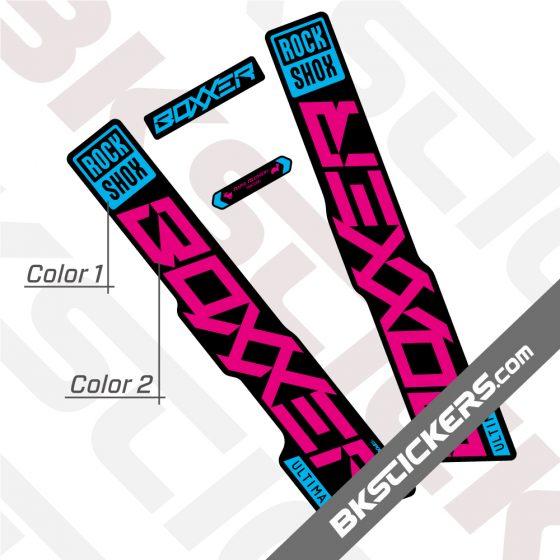 Rockshox Boxxer 2020 stickers kit Black Forks 02