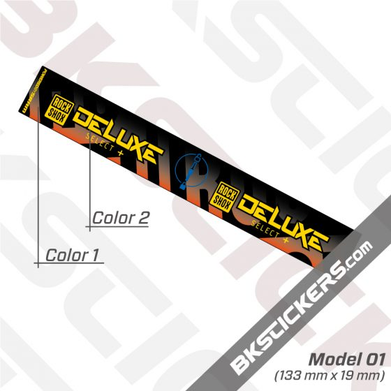 Rockshox Deluxe Select Plus 2020 Inverted Rear Shock Decals kit 02