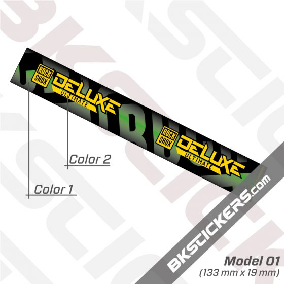 Rockshox Deluxe Ultimate 2021 Remote Rear Shock Decals kit 02