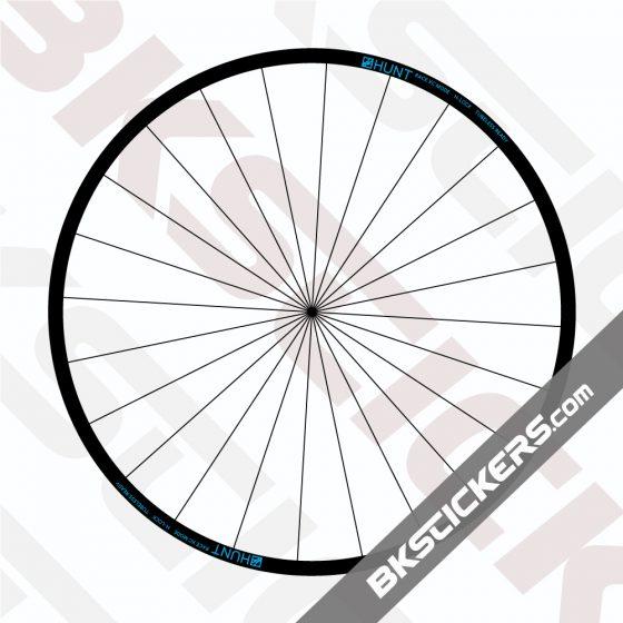 HUNT Race XC Wide MTB Decals Kit - Bkstickers.com Rim Stickers