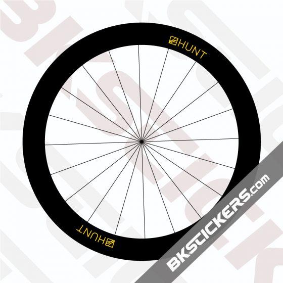 HUNT 50 Carbon Aero Disc Decals Kit - Bkstickers.com Rim Stickers