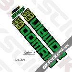 Rockshox Domain 2022 Black Fork Decals kit - BkStickers.com