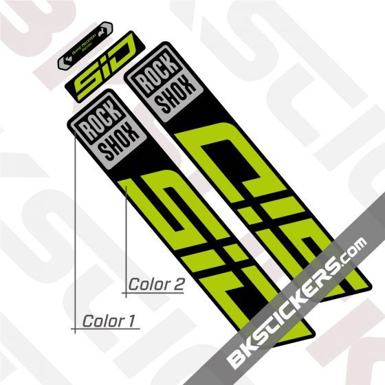 Rockshox-SID-2022-Black-Fork-Decals-kit-green