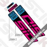 Rockshox SID SL 2022 Black Fork Decals kit - BkStickers.com