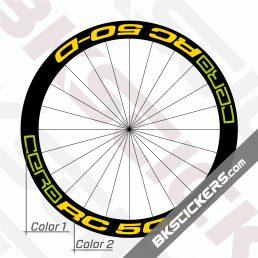 Cero RC50 Disc Carbon Clincher Decals Kit - Bkstickers.com Rim Stickers